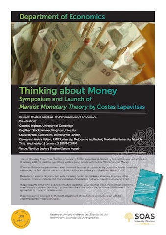 Thinking About Money SOAS poster