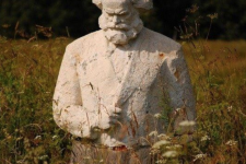 Marx statue in the meadow